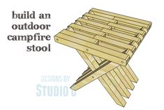 DIY Plans to Build an Outdoor Campfire Stool This nifty rustic stool is the perfect accessory for relaxing or roasting marshmallows by the fire. The DIY plans to build an Outdoor Campfire Stool feat Woodworking Table Plans, Woodworking Tools For Sale, Woodworking Shows, Easy Woodworking Projects, Woodworking Furniture, Woodworking Classes, Woodworking Jointer, Japanese Woodworking, Youtube Woodworking