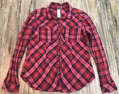 Aratta Anthropologie Plaid Flannel Long Sleeve Top Blouse Womens Sz L*  | eBay