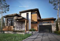 26 Ideas house exterior design stone bricks for 2019 Dream House Exterior, Exterior House Colors, Modern House Plans, Modern House Design, Modern House Exteriors, Modern Wood House, House Roof Design, Gate Design, Modern Exterior
