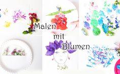 Malen mit Blumen Blumen hämmern Blumenpinseln