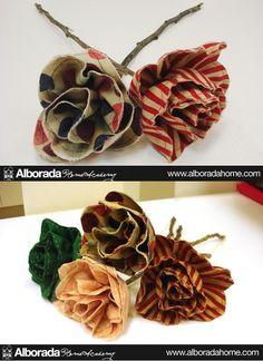 Equipo Creativo Alborada Home Academy: Flores de tela para regalar