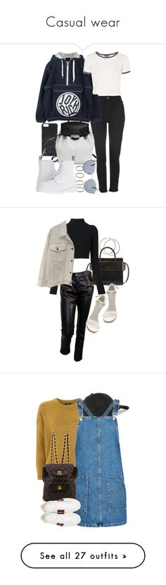 """""""Casual wear"""" by veronice-lopez ❤ liked on Polyvore featuring Native Union, Topshop, Forever 21, Joyrich, Alexander Wang, Dr. Martens, Original Penguin, Junya Watanabe, Givenchy and Balmain"""