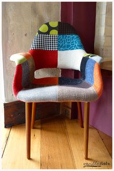 Colourful chair, Kiplings Garage Bar - Your wine bar and fireplace in Turramurra - Our BLOG - Vanilla Slate Designs, Interior designers, Bloggers & Online ho...