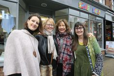 Friendships and collaborations formed through Craft Coop - Sarah Clark from LaForge Designs, Yolande Dennis from Originals by Yolande Dennis, Jane Wilkinson from Indigo & Rose, and Gill Connolly of Rohanna Jewellery in front of our Marlow pop up shop, Feb. 2016.  http://www.bucksfreepress.co.uk/marlow/14250578.Successful_craft_pop_up_shop_returns_to_town/