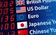 Cotizaciones en el mercado de divisas.