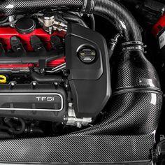 Sistemul de admisie aer sport Audi TT RS 8S Full Kevlar EVENTURI a fost dezolvat pentru a asigura performanta maxima. Compatibilitatea este extinsa pentru motorul 2.5 TFSI VAG. Aceasta asigura cea mai eficienta si directa cale a fluxului de aer direct catre turbo. Prin inlocuirea sistemului de admisie OEM cu sistemul de admisie sport EVENTURI, va asigurati o crestere importanta a puterii motorului. Audi Rs3, Carbon Black, Bmw, Sports, Fiber, Cots, Accessories, Autos, Hs Sports