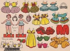 Trini And Nieves Vintage Paper Dolls - from The Paper Collector