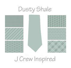 Mens Necktie - J Crew Inspired Dusty Shale Necktie