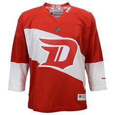 Women s Detroit Red Wings Navy Banner Wave Slim Fit T-Shirt  07b12dcd6d