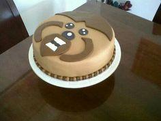 Torta fondant ewok 3D