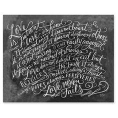 Love is Patient - Scripture Print