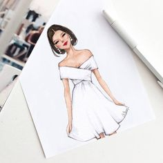 Fashion design sketches 339177415684307444 - Style of Brush by Gizem Kazancigil gizem kazancigil (Gizem Kazancıgil) Source by mademoisellemmaa Dress Design Sketches, Fashion Design Drawings, Fashion Sketches, Dress Designs, Fashion Drawing Dresses, Fashion Illustration Dresses, Drawing Fashion, Fashion Illustrations, Drawings Of Dresses