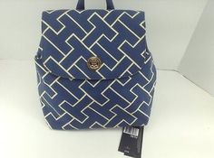 Womens-TOMMY-HILFIGER-Brand-Blue-Backpack-Handbag-79-MSRP-20-off