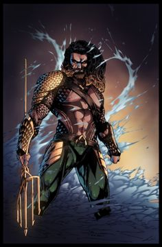 Aquaman - Dawn of Justice by Coloured by Furlani on DeviantArt. Pencils by Brett Booth Marvel Dc Comics, Aquaman Dc Comics, Hq Marvel, Dc Comics Art, Aquaman 2018, Brett Booth, Jason Momoa Aquaman, Super Anime, Univers Dc