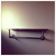 Steel pipe shelf. For the office area.