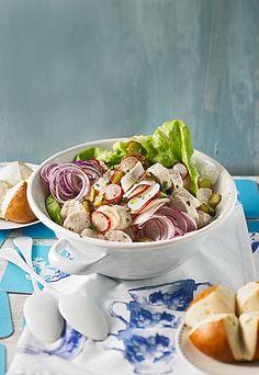 Bayrischer Rettich - Weißwurst - Salat
