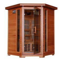 Hudson Bay - Cedar 3 Person FAR Infrared Sauna With Carbon Heaters Corner Unit