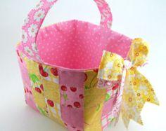 Woven Fabric Basket PDF Sewing Tutorial