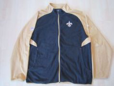 NFL ONFIELD Reebok New Orleans Saints Full Zip Fleece Jacket Size XL #Reebok #CoatsJackets