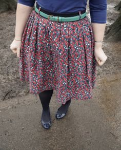 Floral gathered / dirndl skirt