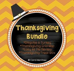 Stock up and save on my four best Thanksgiving products.  You'll receive the following sets: Disguise a Turkey (art and creative writing), Thanksgiving Grid Map Activity (grid map skills), Easy As Pie Review (alphabetical order, nouns, & sentence review), Thanksgiving Treat Box craft (simple, fun open box foldable).
