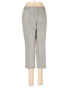 Ann Taylor LOFT Dress Pants: Size 6.00 Silver Women's Bottoms - $15.99