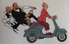 Tintin, Dupont, Dupond & Vespa