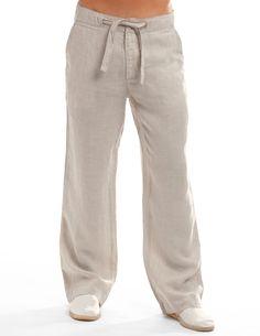 Camel Beachcomber Linen Pants - Linen Pants for Men   Island Company