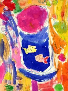 art on artsonia matisse goldfish painting 2nd grade
