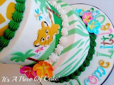 Lion Cub Themed Baby Shower Cake - Cake by Rebecca Baby Boy Cakes, Cakes For Boys, Baby Shower Cakes, Baby Shower Themes, Baby Shower Decorations, Shower Ideas, Lion King Baby Shower, Baby Boy Shower, Lion Cakes