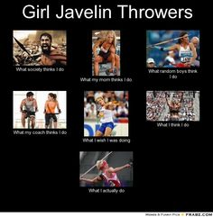 Girl Javelin Throwers..