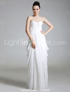 Military Ball Dress.......A-line Spaghetti Straps Floor-length Chiffon Evening Dress - US$ 149.99