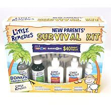 FOR TRAVEL / Little Remedies New Parents' Survival Kit - infant tylenol, gripe water, gas drops, nasal drops, mini aspirator and dosing syringes  ($20, babies r us). Comes w nice bag to which I added an infant thermometer and infant emery board