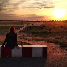 Tempelhof Airport, now a public park. One of our favorite places in Berlin to relax, be and contemplate life.