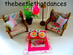 sylvanian families decorated vintage tanya whelan living room set fab extras ebay. beautiful ideas. Home Design Ideas