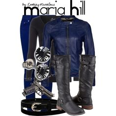 """""""Maria Hill (The Avengers)"""" by marvel-ous on Polyvore"""