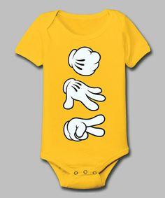 Yellow Rock Paper Scissors Bodysuit