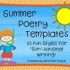 Getting ready for a sun-sational summer poetry unit? Want some fun templates that will inspire creative and descriptive writing? Swim on over and...