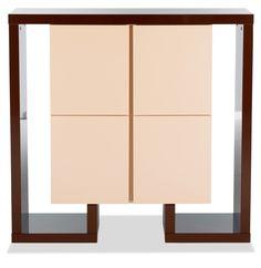 Módulo Beverly Hills. Medidas 120cm x 150cm x 39 cm. Material madera. En color chocolate y visón #CaminoaCasa