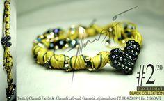 NEW COLLECTION 2012 -  Glamushi BLACK (EXCLUSIVE) Material: GoldField Color: Mostaza (Oscura) & Negro Dije Central: Corazón Swarovsky (Negro) Swarovski : Negro
