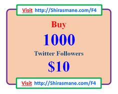 Want to become famous on Twitter...! #Twitter #Twitterfollowers #buyTwitterfollowers #Twitterfamous #becomefamousonTwitter Buy 1,000 Twitter Followers for $10 Only...! Visit http://Shirasmane.com/F4