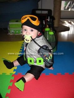Halloween 2009 Coolest Homemade Costume Contest Runner-Up.  Scuba Diving Baby costume submitted by Kirstin from Long Beach, CA...