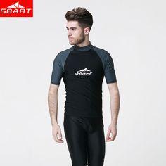 337602c00c Short Sleeve Men Rashguard Shirt Anti UV Windsurf Swimwear For Men Surfing  Swimming Triathlon Sport Wear