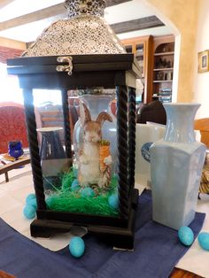 Easter Bunny in Moroccan Lantern