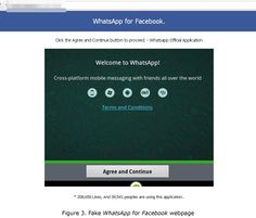 Scam Disguised as WhatsApp for Facebook