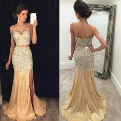 Sexy Split Side Prom Dress, 2017 Prom Dress,