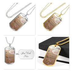 Engraved Dog Tags, Engraved Gifts, Heart Pendant Necklace, Dog Tag Necklace, Photo Engraving, Jewelry Gifts, Unique Jewelry, Baptism Gifts, Christian Jewelry