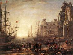 クロード・ロラン 「ヴィラ・メディチのある港」