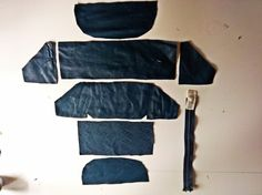 Leather Fannypack Panel Layout.