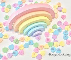 unicorn rainbow candy crush nesting rainbow stacker puzzle blocks handcrafted Montessori solid wood toy baby toddler gift by harperandsully on Etsy https://www.etsy.com/listing/512029835/unicorn-rainbow-candy-crush-nesting
